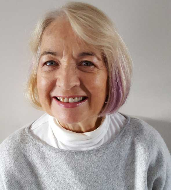 Margaret satisfied patient after lens implant for cataract surgery