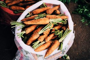 a bag of carrots, superfoods for healthy eyes