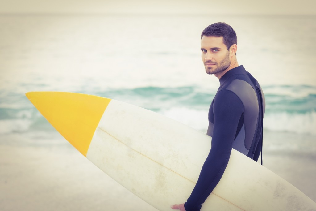 Man with surfboard - improving surgical performance