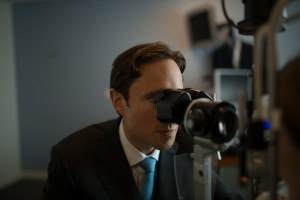 How is laser eye surgery performed? Allon Barsam examining a patient.