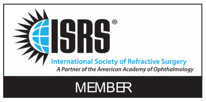 The logo of the International Society of Refractive Surgery, where Allon Barsom is a member